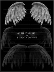 angel wings set by starscoldnight by StarsColdNight