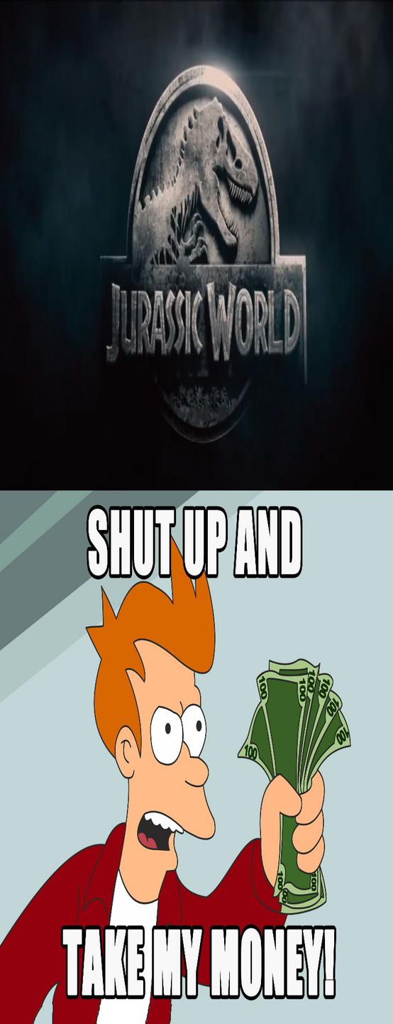 My reaction to Jurassic World by KPsaurusrex