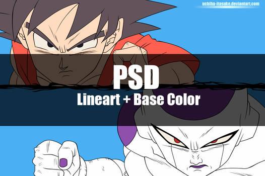 Goku vs Freeza PSD