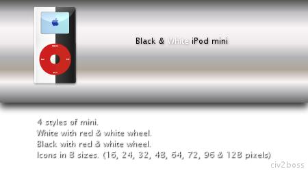 Black and White iPod mini by Civ2boss