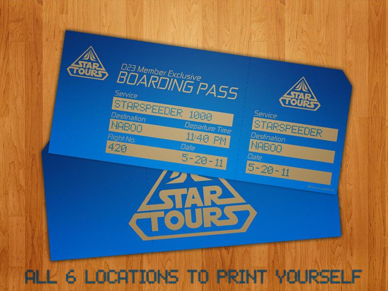 PRINTABLE Star Tours 2 BPs