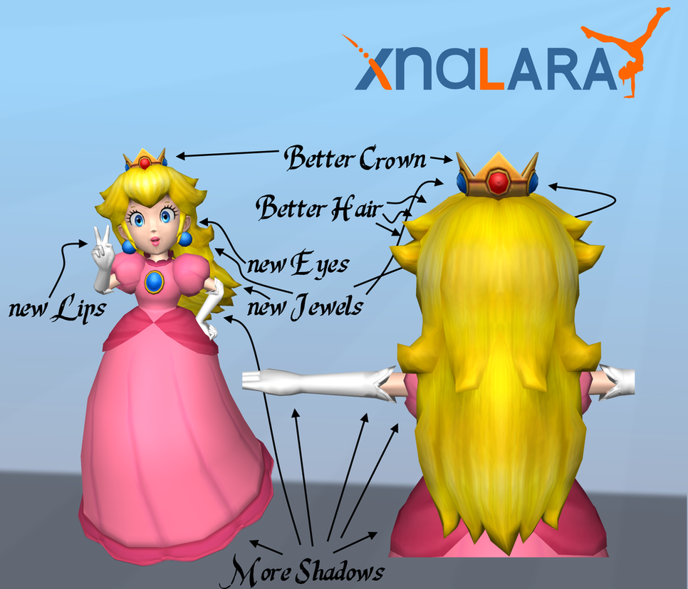 princess peach hd textures for xna by arrow-4-u on deviantart