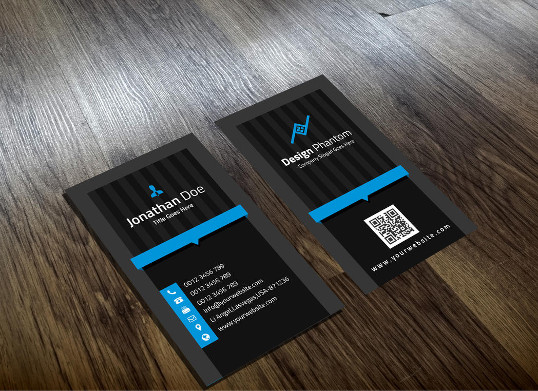 Creative business card template free download by designphantom colourmoves