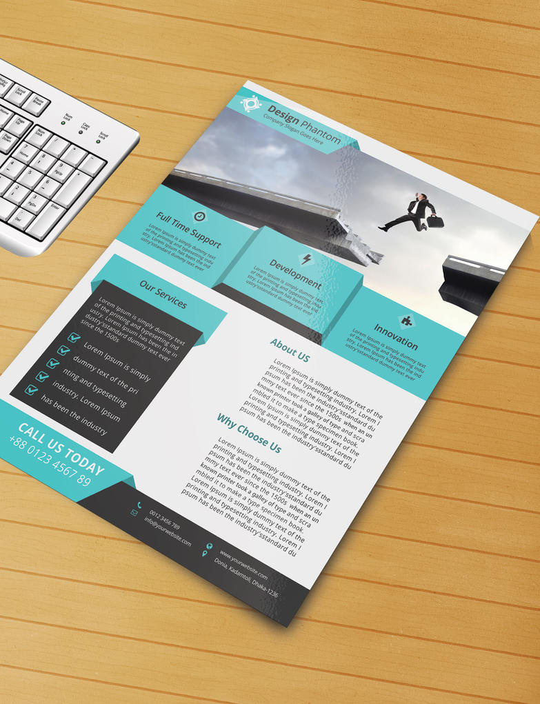 Free Flyer PSD Template Free Download By Designphantom On DeviantArt - Templates for flyers free downloads
