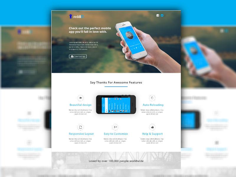 iPhone App Landing Page ( Free Download ) by designphantom on DeviantArt