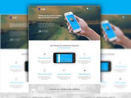 iPhone App Landing Page ( Free Download ) by designphantom