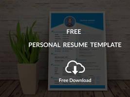 Personal Resume Template (Free Download) by designphantom