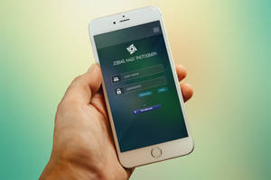 iPhone App Login Page Free Download by designphantom