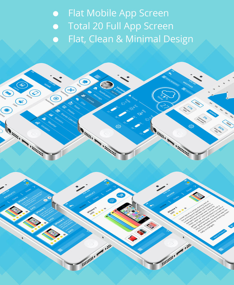 Shop and Social Communication App UI Kit by designphantom