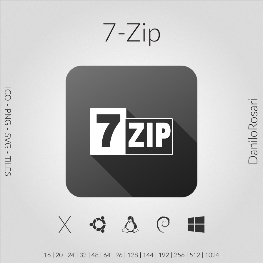 7-Zip - Icon Pack by DaniloRosari on DeviantArt