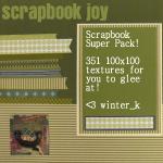Scrapbook - 351 100x100 Texs by winter-kismet