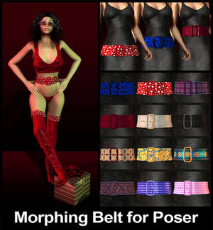 Morphing Belt Prop for Poser