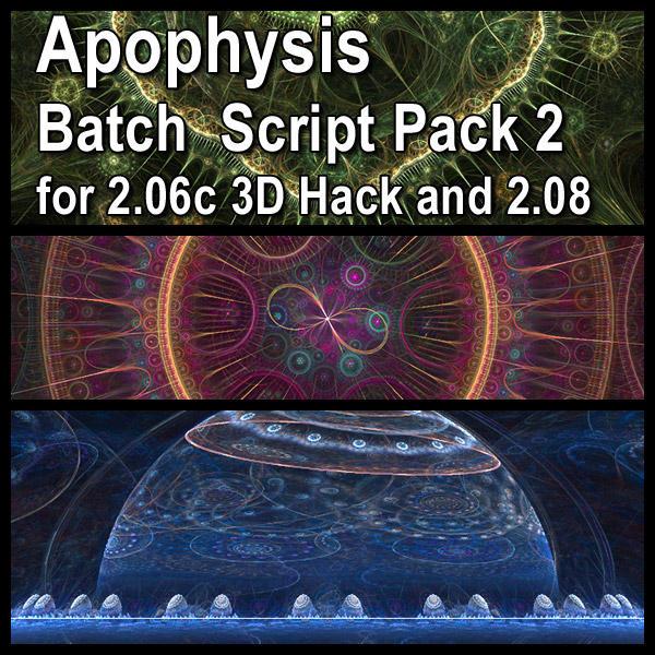 Apophysis Batch Script Pack 2 by parrotdolphin