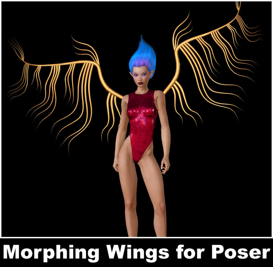 Metal Wings for Poser by parrotdolphin