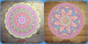 Featuring-vortexs-(hue-shift Mandalas)