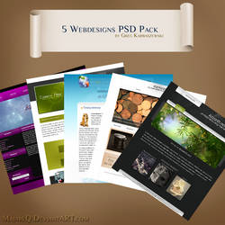 5 Webdesigns PSD Pack