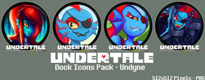 Undertale Dock Icons Pack - Undyne