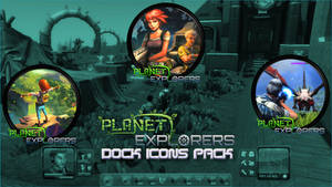 Planet Explorers Dock Icons Pack