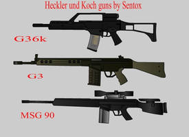 Heckler und Koch guns by notrace