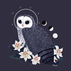 Familiars: Sooty Owl by reimena