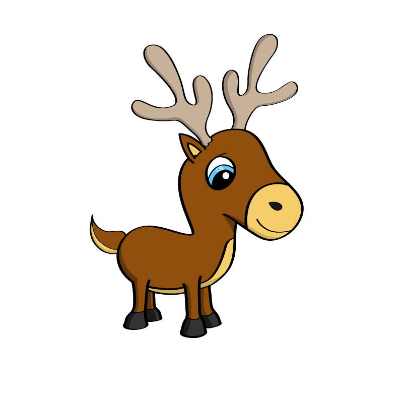 Cartoon Illustration Of A Cute Little Reindeer By Mischoko On Deviantart