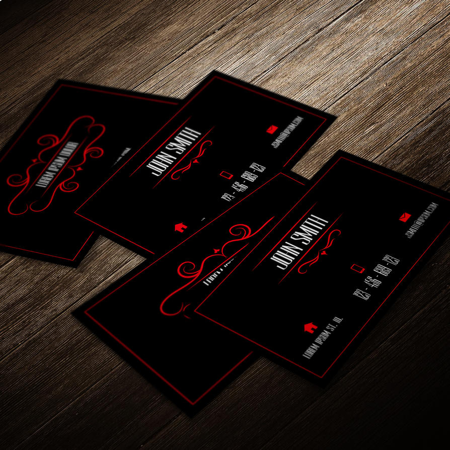 Professional business card template red and black by mischoko on professional business card template red and black by mischoko cheaphphosting Choice Image