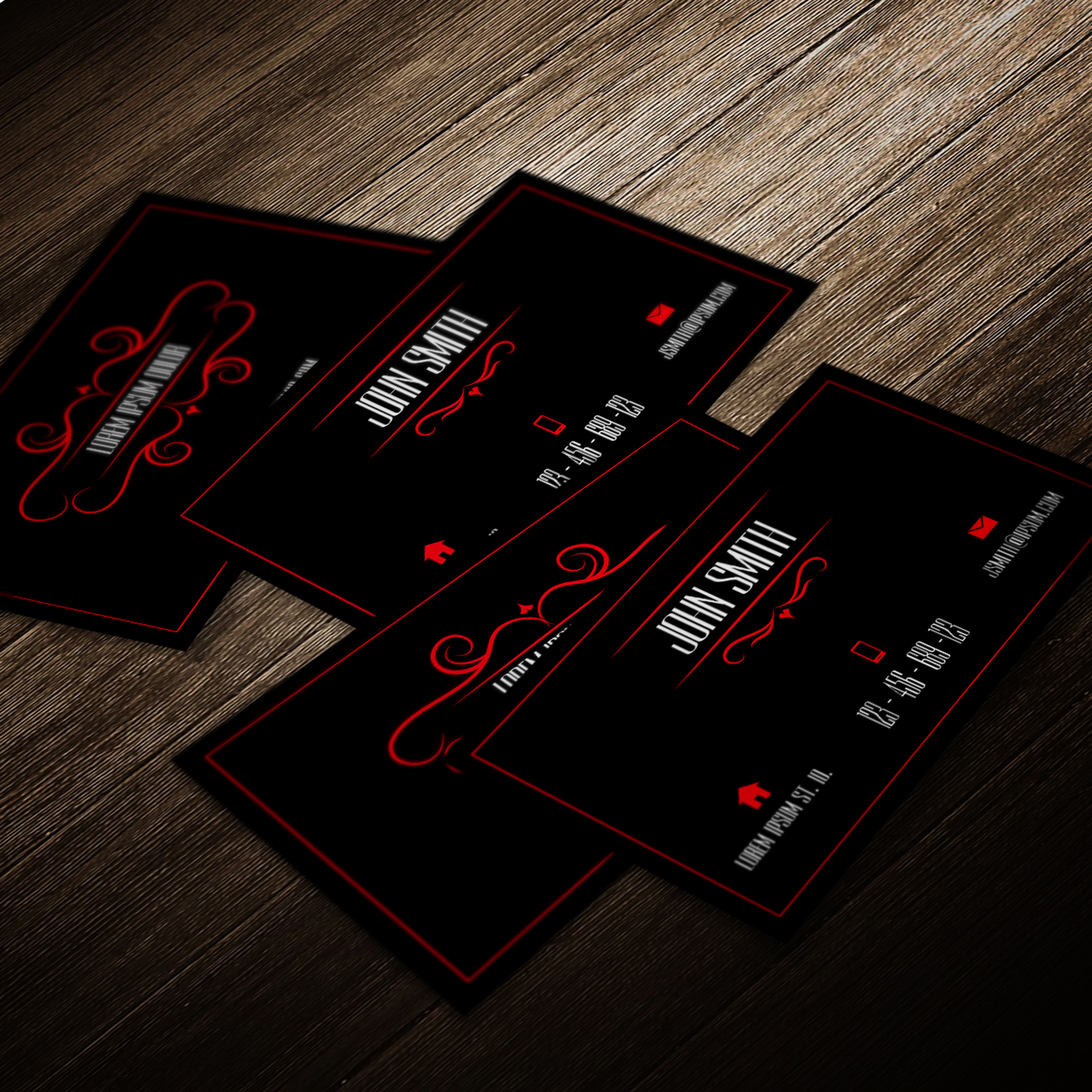 Professional business card template red and black by mischoko on professional business card template red and black by mischoko reheart Gallery