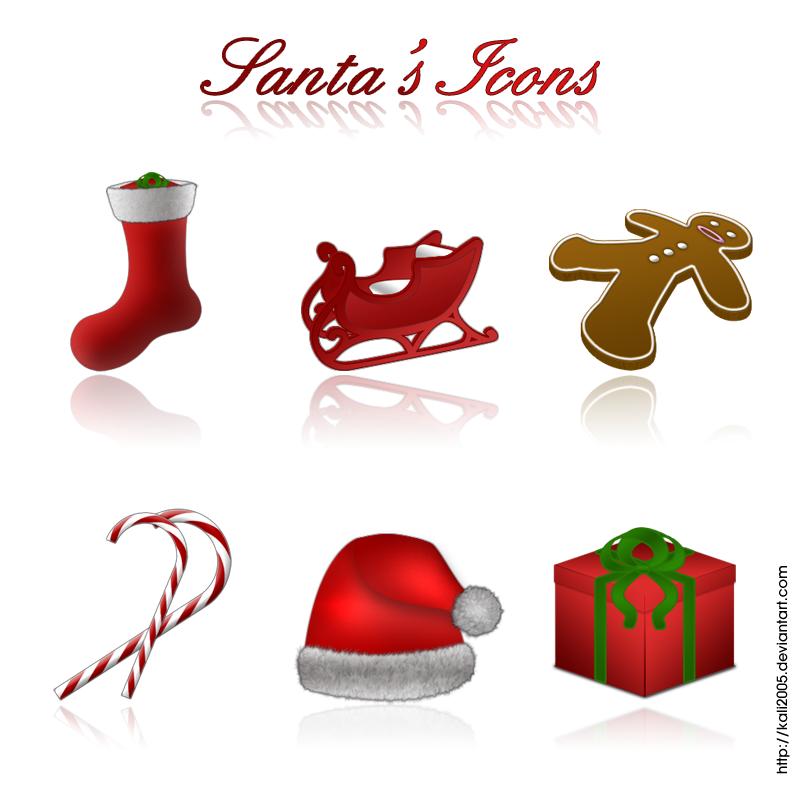 Santa's Icons by kali2005