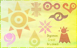 Digimon Crest Brushes