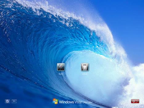 Fresh wave logon screen for xp