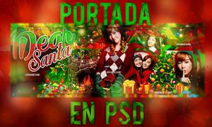 Dear Santa Portada de navidad en PSD
