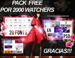 +PACK FREE POR +2000 WATCHERS