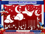 MOONS AND STARS PNG