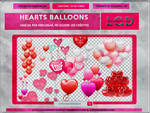 Pack Hearts Balloons