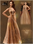 Celebrities Style- Anne Hathaway Gold Dress (TS2)