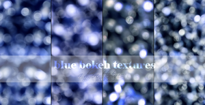 Blue Bokeh Textures Pack