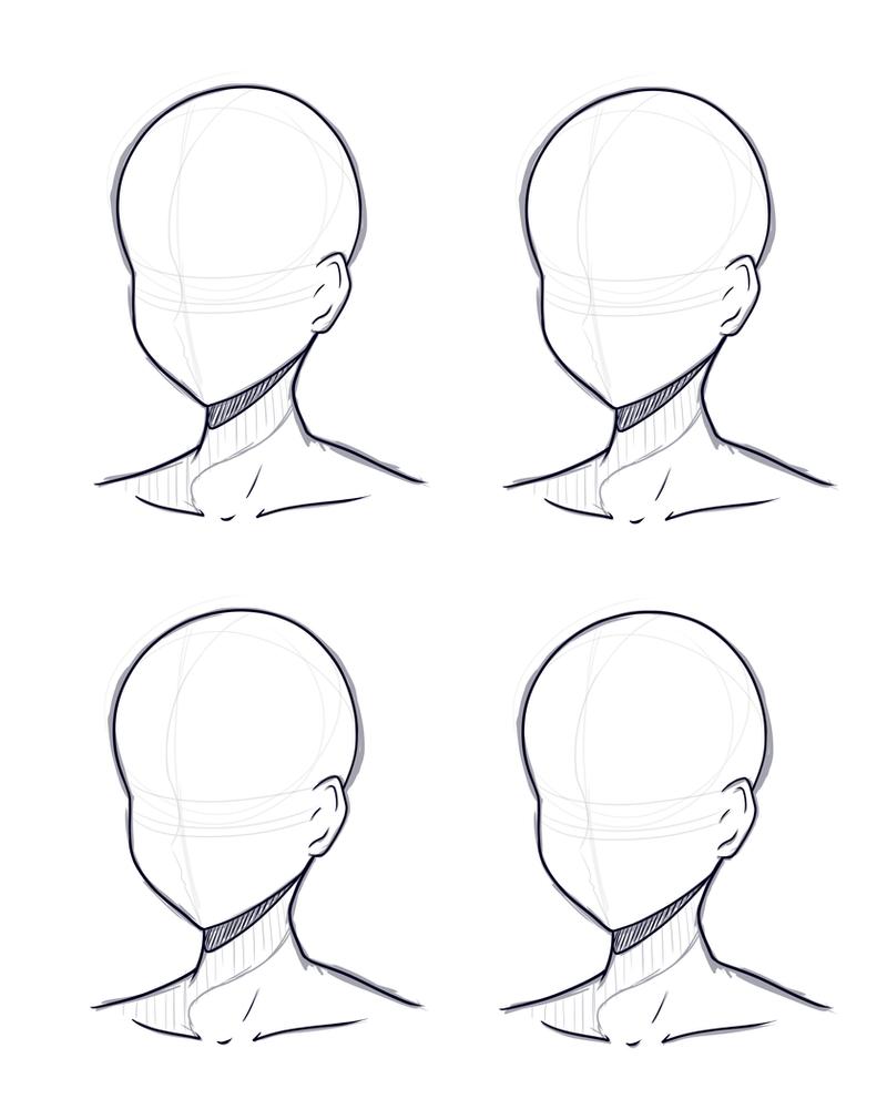 Head Design Base Sketch And Lineart By Kitsunetsukiko On Deviantart