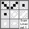 Scanline Patterns by honeymiel