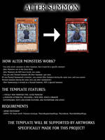 Yu-Gi-Oh! Alter Monster Template by hunduel