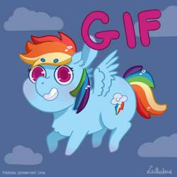 GIF: Chibi Rainbow Dash