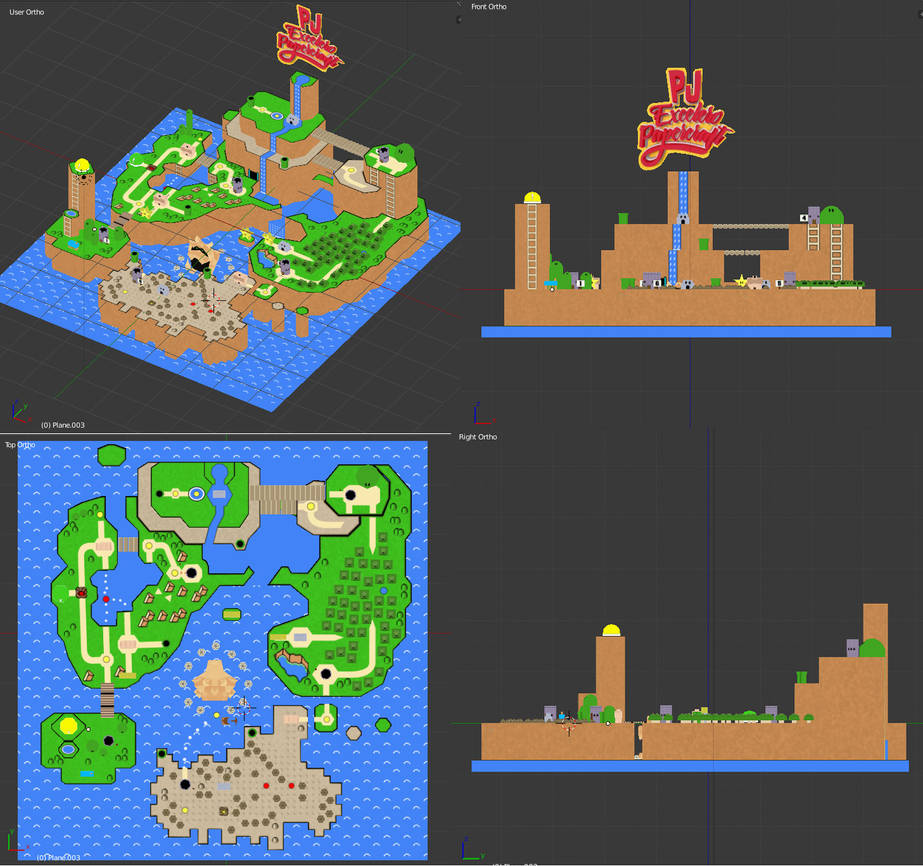 Super Mario World Map 3D by PJExceleroPapercraft on DeviantArt