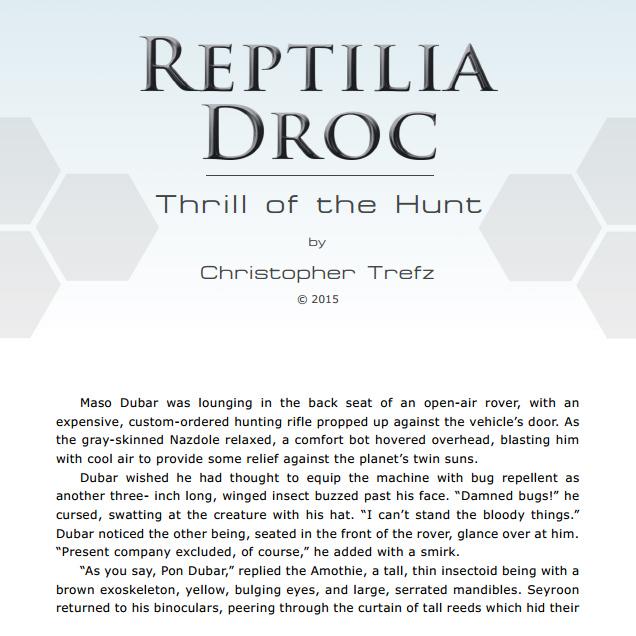 Reptilia Droc - Thrill of the Hunt (PDF) by chris-illustrator
