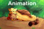 [Animation] Training - Sleeping Cedar and Ermine by Edahel