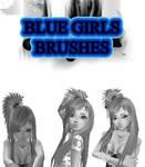 Blue Girls Photoshop Brush Set