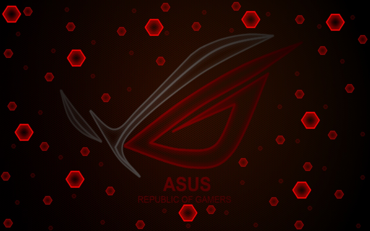 Windows login screen: HEXAGONS_red ASUS-ROG by WordWizzard