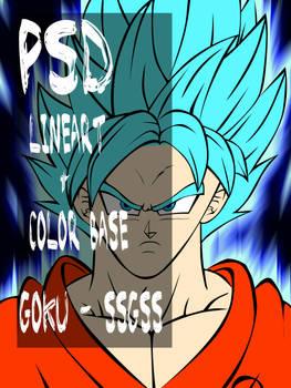 Goku SSGSS - PSD