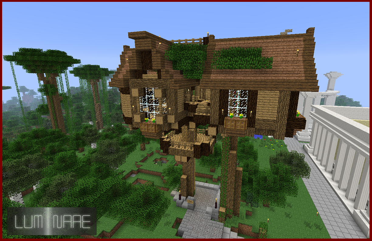Fantastic Minecraft Treehouse By X Luminare X On Deviantart Interior Design Ideas Pimpapslepicentreinfo