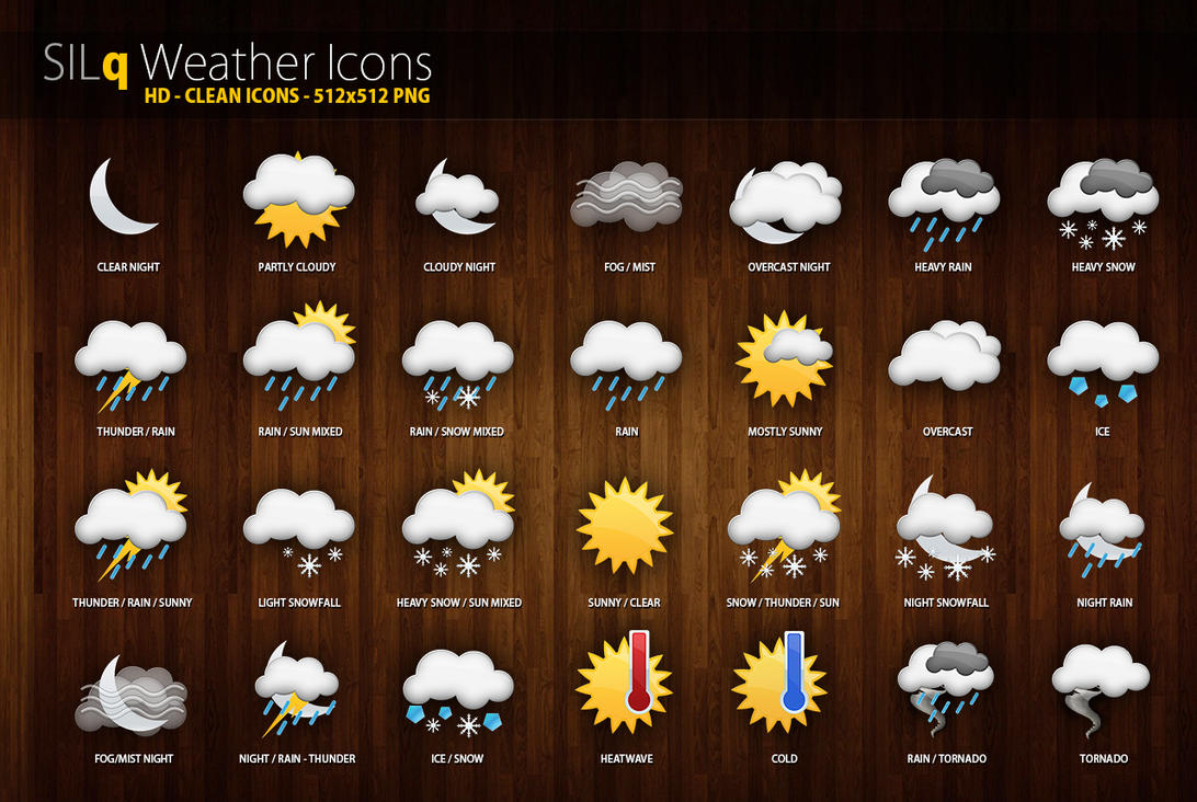 Silq weather icons by d3stroy on deviantart silq weather icons by d3stroy biocorpaavc Image collections