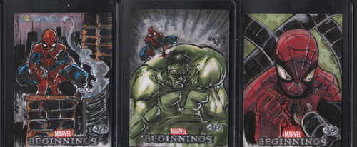 Marvel Beginnings AP's Hulk And Spiders by eugenecommodore