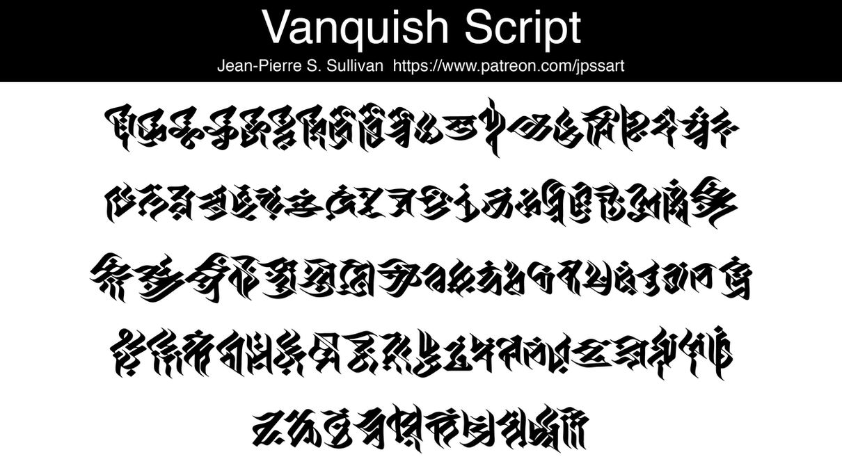 Vanquish Script *FREE FONT* by JPSSullivan